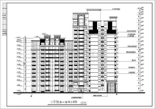 高层住宅建筑方案图-图2