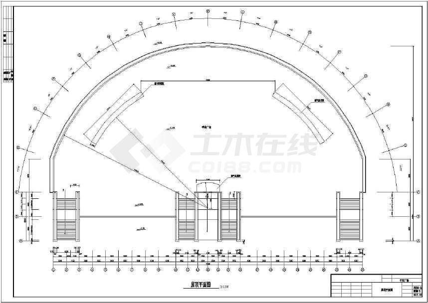 点击查看某地简单一层屋顶商业广场建筑设计方案图第1张大图