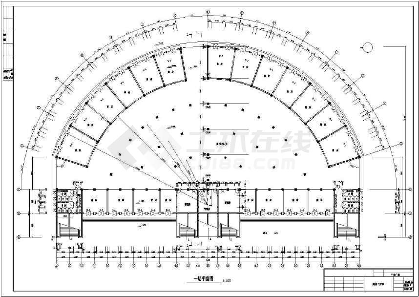 点击查看某地简单一层屋顶商业广场建筑设计方案图第2张大图