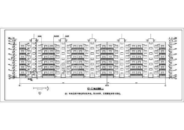 某地小区多层住宅建施图-图3