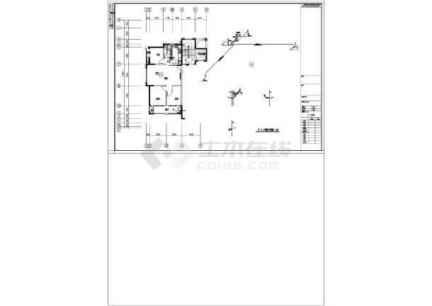 江苏高层住宅楼及地下室给排水施工图-图3