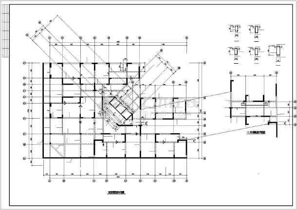 点击查看某小区剪力墙住宅结构设计图第1张大图