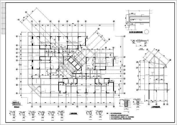 某小区剪力墙住宅结构设计图-图3