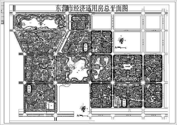 东营市某经济适用房建筑设计cad平面图-图1