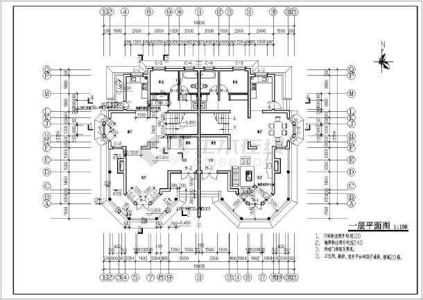 某二层别墅全套建施图-图2