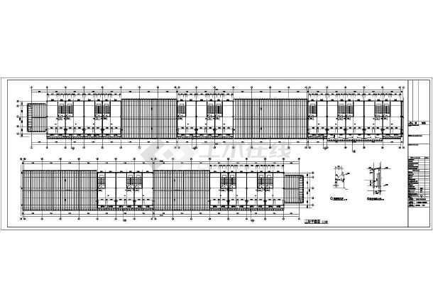 某美食一条街综合楼建筑结构设计图-图1