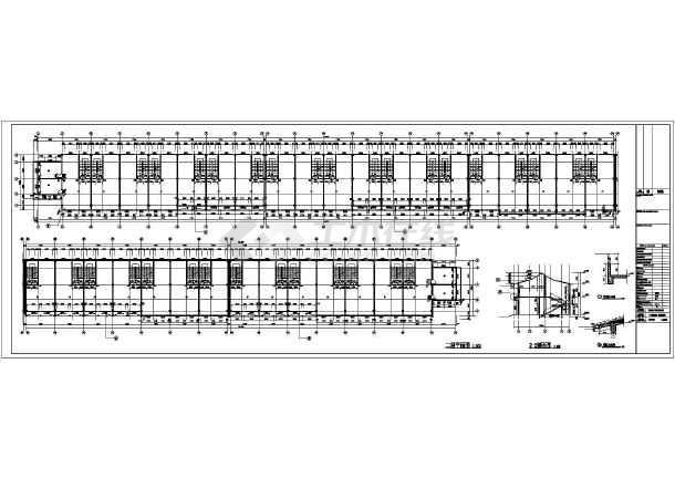 某美食一条街综合楼建筑结构设计图-图2
