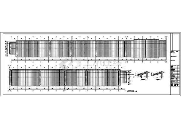 某美食一条街综合楼建筑结构设计图-图3
