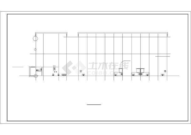 河北多层住宅楼水暖施工图纸-图1