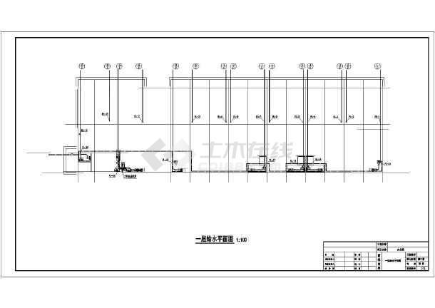 河北多层住宅楼水暖施工图纸-图2