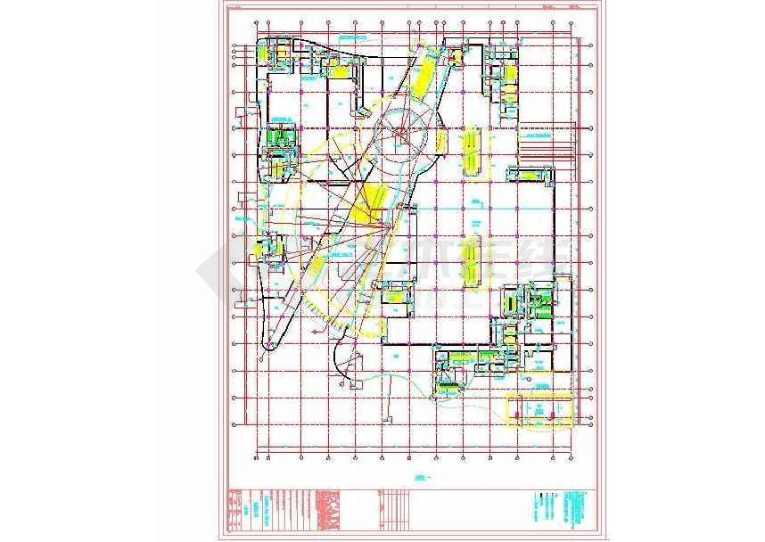 点击查看某地广场九层商业购物中心建筑施工图第1张大图