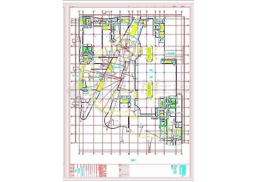 点击查看某地广场九层商业购物中心建筑施工图第2张大图