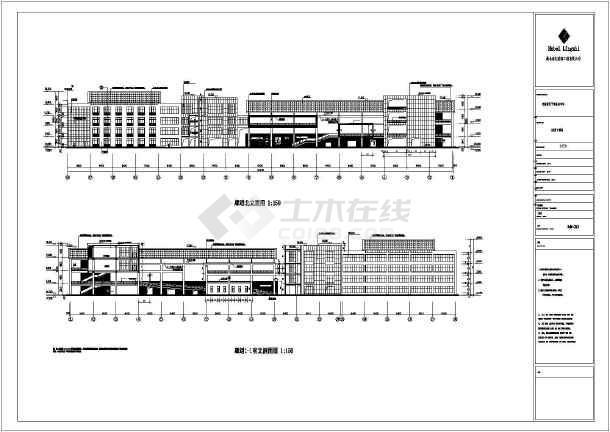 某房产公司多层钢结构工程CAD图纸-图二