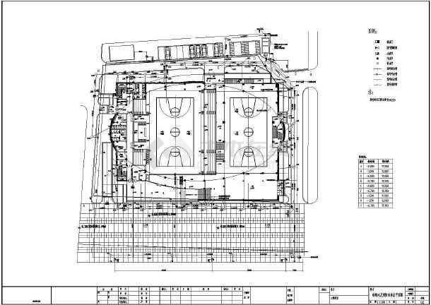 江苏某体育馆给排水施工图纸-图2