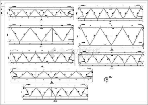 38米跨度大开间钢结构施工图-图1