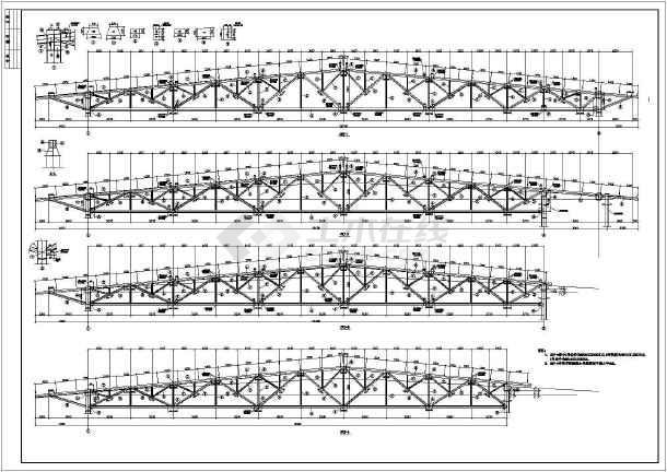 38米跨度大开间钢结构施工图-图2