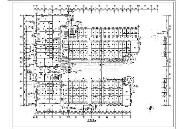 商业广场平立面建筑施工设计CAD图-图2