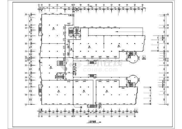 商业广场平立面建筑施工设计CAD图-图3