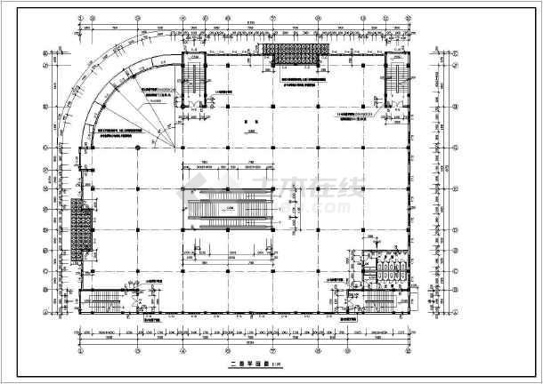 商场建筑全套设计CAD施工图-图2