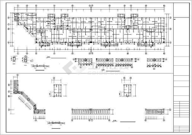 [福建]某生产队安置房建筑结构设计图-图1