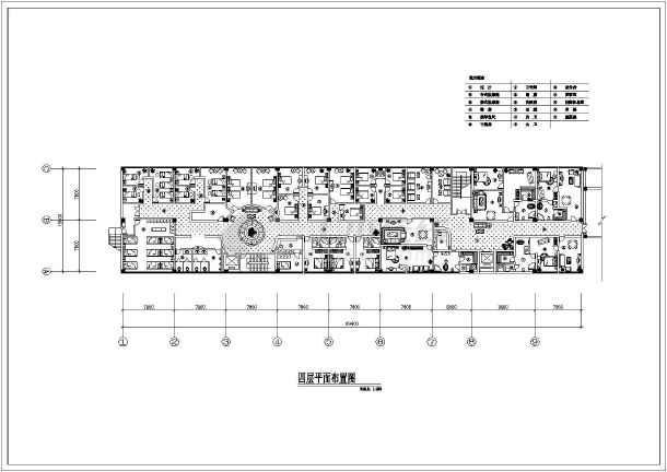 某洗浴中心建筑设计CAD平面布置图-图2