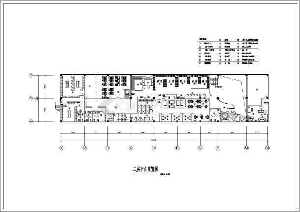 某洗浴中心建筑设计CAD平面布置图-图3
