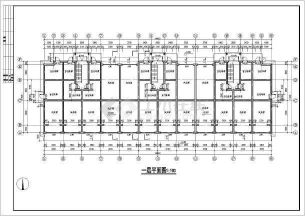 某地单元式多层住宅建筑施工图-图2