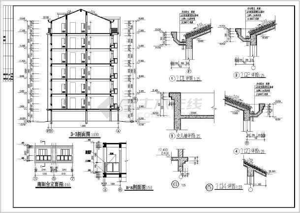 某地单元式多层住宅建筑施工图-图3