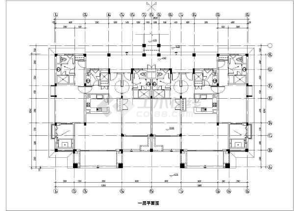 某地某酒店式公寓建筑施工图(共5张)-图1