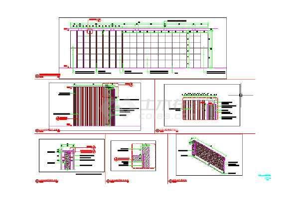 SAUWUS入口LOGO景墙节点详图(新中式)-图3