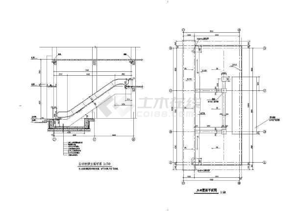 某商业街塔楼建筑施工设计CAD图-图1