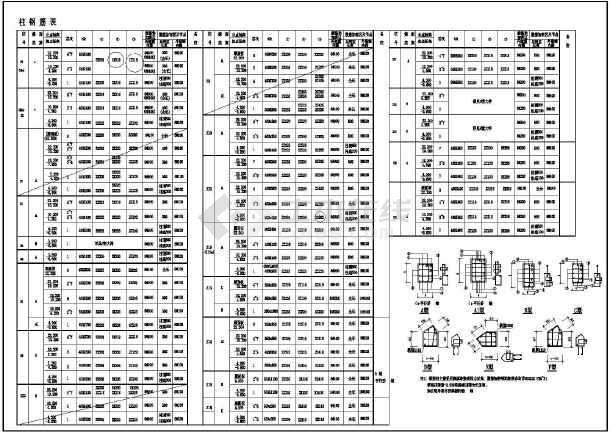 某地大型建筑结构CAD图纸-图1
