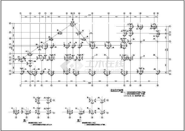 某地大型建筑结构CAD图纸-图2