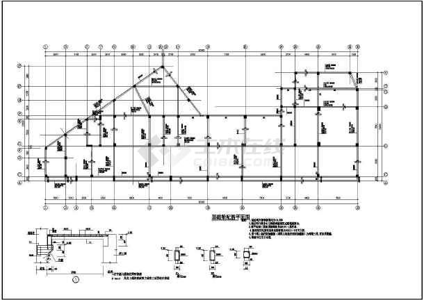 某地大型建筑结构CAD图纸-图3