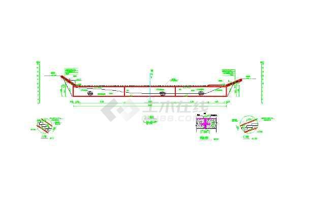 浙江温州一座小型堰坝的施工图纸-图1