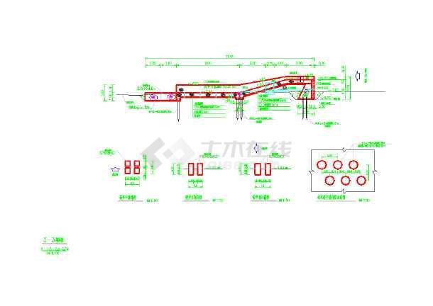 浙江温州一座小型堰坝的施工图纸-图2