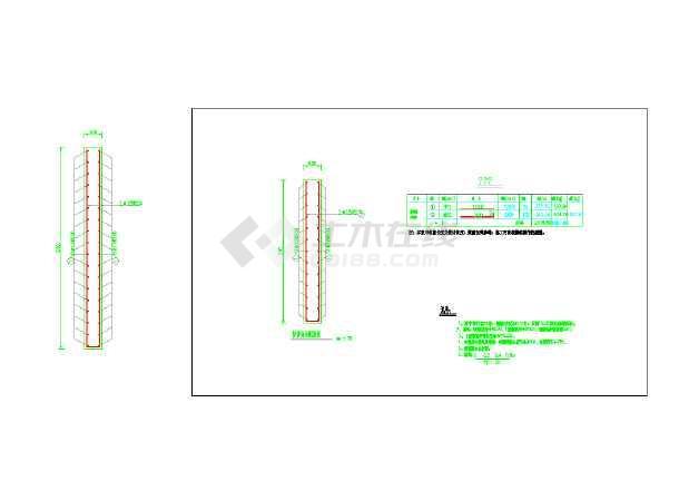 浙江温州一座小型堰坝的施工图纸-图3