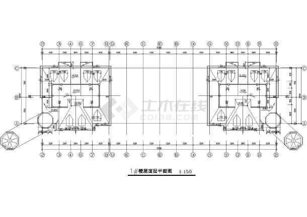 商业广场建筑设计CAD施工图-图一