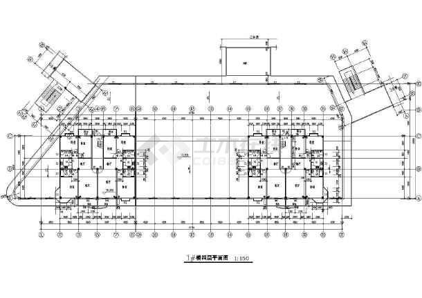 商业广场建筑设计CAD施工图-图二