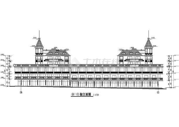 商业广场建筑设计CAD施工图-图2