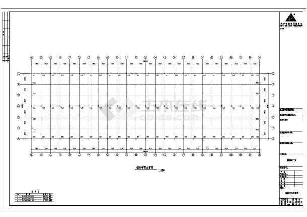 某公司厂房工程建筑结构CAD图纸-图3