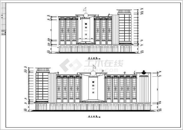全套商场建筑CAD设计方案图-图1
