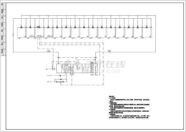 电子厂房暖通系统图纸-图1
