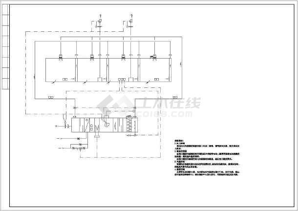 电子厂房暖通系统图纸-图2