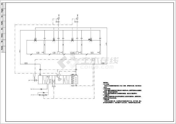 电子厂房暖通系统图纸-图3