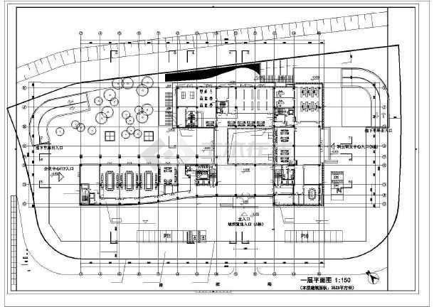 [上海]多功能办公楼给排水施工图-图1