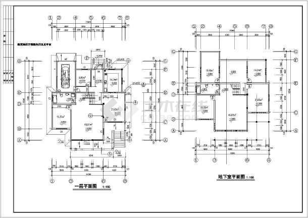现代风格别墅完整建筑设计图纸-图2