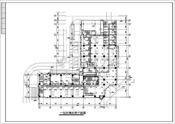 某大型酒店中央空调设计平面图-图1
