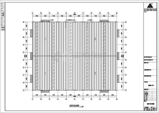 某公司67米x54米钢结构工程结构CAD图纸-图一