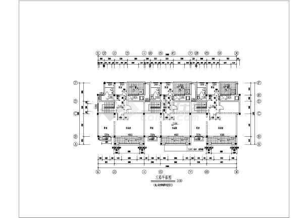 某独立联排别墅建筑施工图-图3
